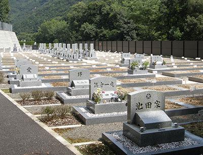 広い間口のお墓